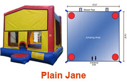 Plain Jane Bounce House Rental