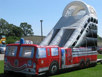 Fire Truck Slide Rental | Rent a Cheap Inflatable Slide ...