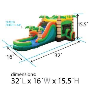 mega tropical combo dimensions